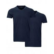 HOMEWARE Doppelpack V-Shirt Cotton Modal - Navy