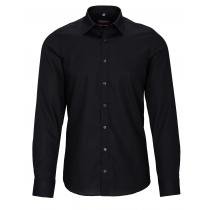 COMMANDER Cityhemd Body Fit bügelfrei - Black