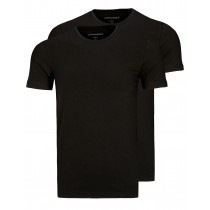 COMMANDER T-Shirt Doppelpack Body Fit - Schwarz