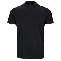 Basic T-Shirt  - Schwarz mit Rundhalsausschnitt