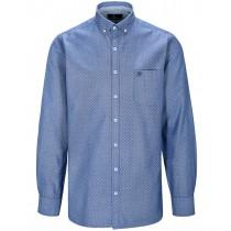 Freizeithemd mit Minimalmuster MODERN FIT - True Blue
