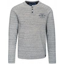Henley Shirt BSF - Grey Melange