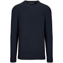 Rundhals Pullover Cotton Cashmere - Blue Navy Melange