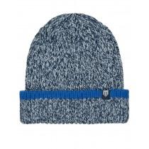 Strick-Mütze mit Logopatch - Blue Navy