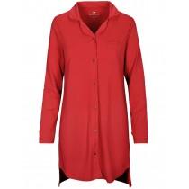 HOMEWARE Nachthemd mit Knopfleiste - Rot