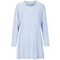 Nachthemd mit Kontrast-Paspelierung - Bleu