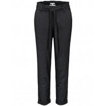 Streifen Pants meliert  - Black