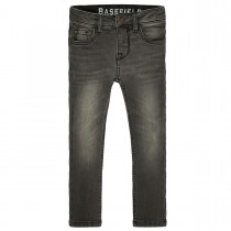 BASEFIELD Skinny Jeans Regular Fit  - Mid Grey mit Abriebeffekt