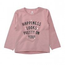 BASEFIELD Sweatshirt HAPPINESS - Dusty Rose