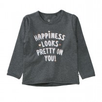 BASEFIELD Sweatshirt HAPPINESS - Anthra Melange