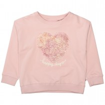 BASEFIELD Sweatshirt HAPPY DAY - Rosa