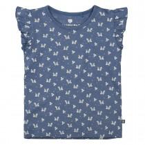 BASEFIELD Tunika mit Allover-Blümchen-Print - Jeans Blue