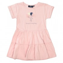 BASEFIELD Kleid mit Applikation - Rosa
