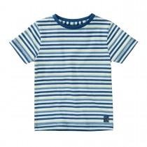 BASEFIELD T-Shirt mit Ringelmuster - Mid Blue