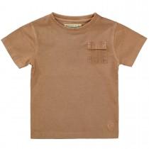 BASEFIELD T-Shirt mit Brusttasche - Brown